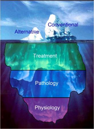 Altnerative and Conventional Medicine Iceberg