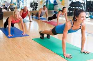 Group Fitness Pilates Class
