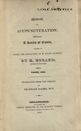 Memoir-Acupuncturation