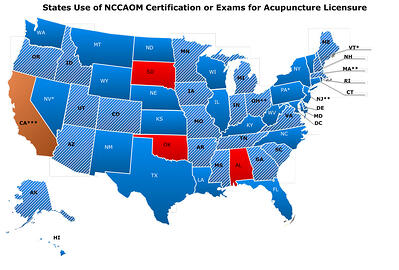 States-using-NCCAOM-Certification