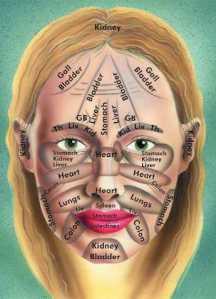 Chinese medicine facial map