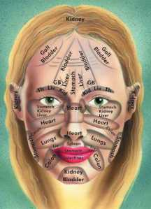 Chinese medicine facial map