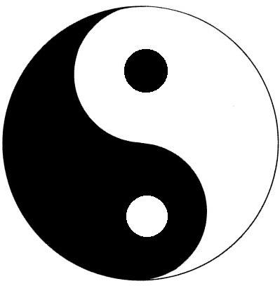 classic yin yang symbol